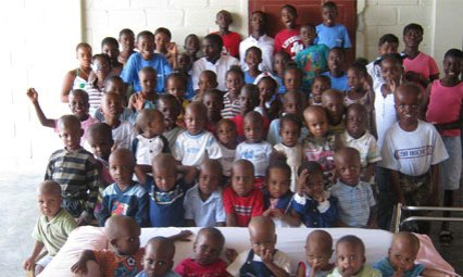"""Mercy and Sharing children """"Thank You""""."""